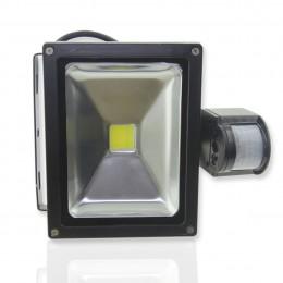 Светодиодный прожектор 20W 220V с датчиком движения White