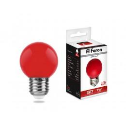 Лампа светодиодная, (1W) 230V E27 красный