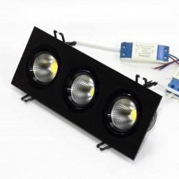 Светильник светодиодный встраиваемый 99.3 Series Black Housing BW155 (15W,220V,Day White)