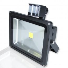 Светодиодный прожектор 30W 220V с датчиком движения White