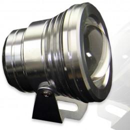 Прожектор светодиодный круглый (стальной) 10W 220V White