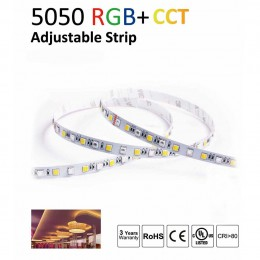 Светодиодная лента LUX class 5050 60 led/m, RGB+CCT (rgb+white/ warm white), 12V, IP20, А41