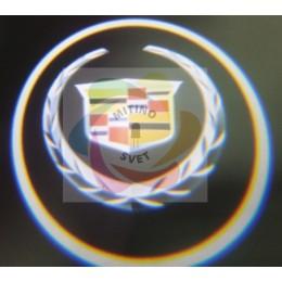 Проекция логотипа CADILLAC
