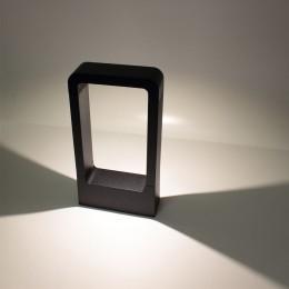 Уличный светильник столбик JH-BD-B16 DHL35 (220V, 7W, черный корпус, 300mm, IP65, warm white)