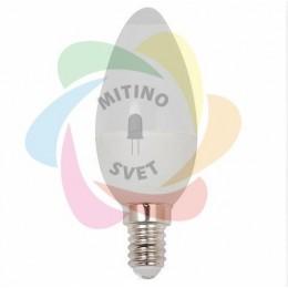 Светодиодная лампа Е14 220V 6W свеча White (HE)