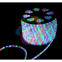 Дюралайт светодиодный 220В, диаметр 11 мм, бухта 100м RGB