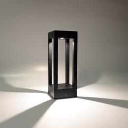 Уличный светильник столбик JH-BD-B18 DHL37 (220V, 7W, черный корпус, 300mm, IP65, warm white)