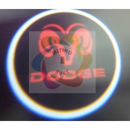 Проекция логотипа DODGE
