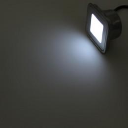 Светодиодный светильник точечный SST IP67 (0,6W, 12V) White 58,5x58,5x9мм