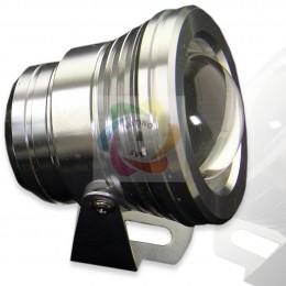 Прожектор светодиодный круглый (стальной) 10W 220V RGB