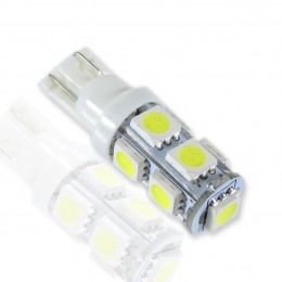 Автолампа T10-5050-9pcs White