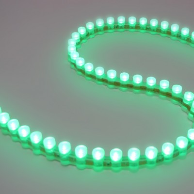 Светодиодная DIP лента бокового свечения IP67 Зеленая