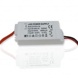 Светодиодный драйвер slim ZF-AC (220V, 27W, 20-30V, 600mA)