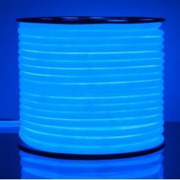 Неон круглый синий