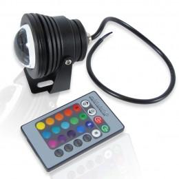 Прожектор светодиодный круглый 10W 12V RGB