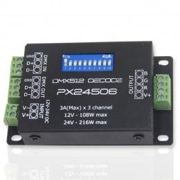 Декодер mini DMX -PX24506 (12-24V, 108-216W)