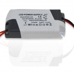 Светодиодный драйвер ZF-AC (220V, 15W, 7-20V, 600mA)