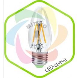 Светодиодная лампа Е14 220V 5W LED-СВЕЧА-PREMIUM WarmWhite
