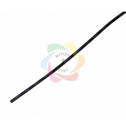 1.5 / 0.75 мм 1м термоусадка черная