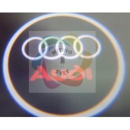 Проекция логотипа AUDI