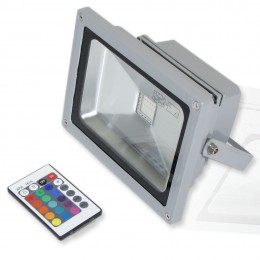 Прожектор светодиодный 20W 220V RGB