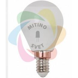 Светодиодная лампа Е14 220V 6W шар WarmWhite (HE)